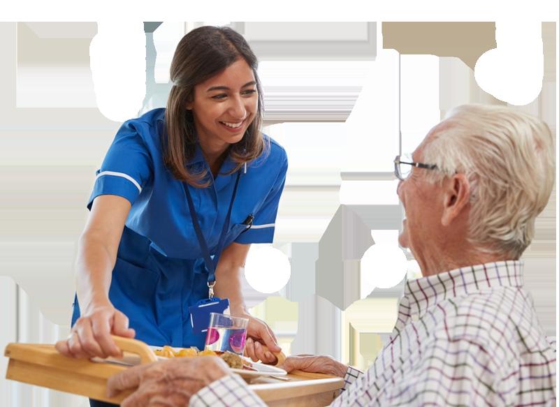 cuidadora de personas mayores y ancianos a domicilio